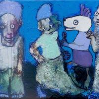 Les fugitifs#V, Priscille Deborah, artiste plasticienne expressionniste sensualiste