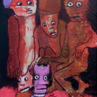 Les fugitifs#VI, Priscille Deborah, artiste plasticienne expressionniste sensualiste