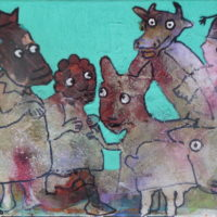 Les fugitifs#VII, Priscille Deborah, artiste plasticienne expressionniste sensualiste