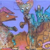 Les fugitifs#VIII, Priscille Deborah, artiste plasticienne expressionniste sensualiste