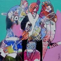 Les oiseaux moqueurs, Priscille Deborah, artiste plasticienne expressionniste sensualiste