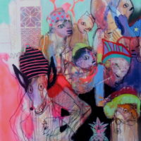 Loup y es-tu #I, Priscille Deborah, artiste plasticienne expressionniste sensualiste