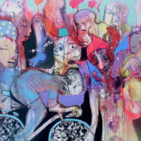 Loup y es-tu #II, Priscille Deborah, artiste plasticienne expressionniste sensualiste