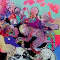 Loup y es-tu #III, Priscille Deborah, artiste plasticienne expressionniste sensualiste