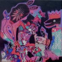 Oiseaux de paradis #I, Priscille Deborah, artiste plasticienne expressionniste sensualiste
