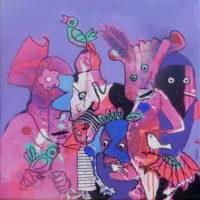 Oiseaux de paradis #III, Priscille Deborah, artiste plasticienne expressionniste sensualiste