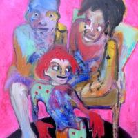 La petite fille aux cheveux rouges, Priscille Deborah, artiste plasticienne expressionniste sensualiste