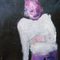 Le pull-over blanc, Priscille Deborah, artiste plasticienne expressionniste sensualiste