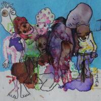 Métissage #34, Priscille Deborah, artiste plasticienne expressionniste sensualiste
