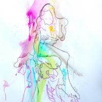 Céleste #II, Priscille Deborah, artiste plasticienne expressionniste sensualiste
