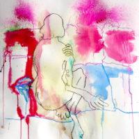 Céleste #III, Priscille Deborah, artiste plasticienne expressionniste sensualiste