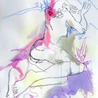 Céleste #IV, Priscille Deborah, artiste plasticienne expressionniste sensualiste