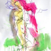 Céleste #V, Priscille Deborah, artiste plasticienne expressionniste sensualiste
