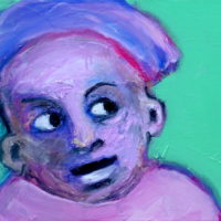 Chérubin #I, Priscille Deborah, artiste plasticienne expressionniste sensualiste