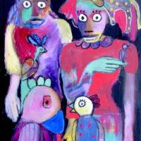 Comme des rois, Priscille Deborah, artiste plasticienne expressionniste sensualiste