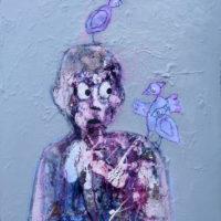 L'enfant à la coque, Priscille Deborah, artiste plasticienne expressionniste sensualiste