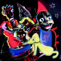 Entre chien et loup #III, Priscille Deborah, artiste plasticienne expressionniste sensualiste