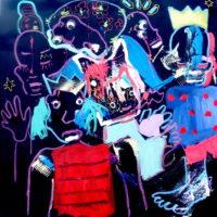 Entre chien et loup #I, Priscille Deborah, artiste plasticienne expressionniste sensualiste