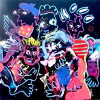 Entre chien et loup #II, Priscille Deborah, artiste plasticienne expressionniste sensualiste