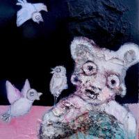 L'ourson blanc, Priscille Deborah, artiste plasticienne expressionniste sensualiste